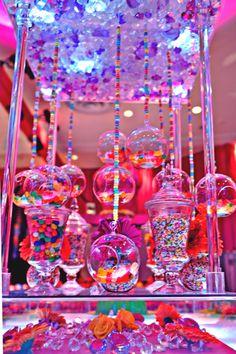 6 Ideas for Candy Centerpieces (Photo: Sara Renee Events) - mazelmoments.com @Julie Haber Gendler