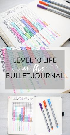 Level 10 Life in the Bullet Journal - 10 Spreads! - Productive & Pretty