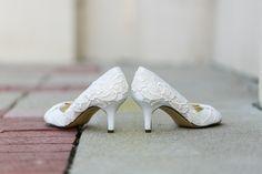 Ivory Wedding Shoes - Ivory Bridal Shoes, Wedding Shoes with Ivory Lace. US Size 8. $99.00, via Etsy.