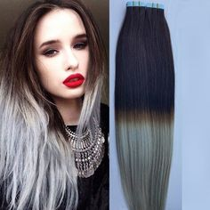Cheap New Product Silver Grey Tape In Human Hair Extensions Virgin Straight Brazilian Pu Skin Weft Hair Extensions 100g 22 24 26 28 At Wholesale Price $32.92, Glue Hair Extensions Sassy Hair Extensions From Goddesslovehair| Dhgate Mobile