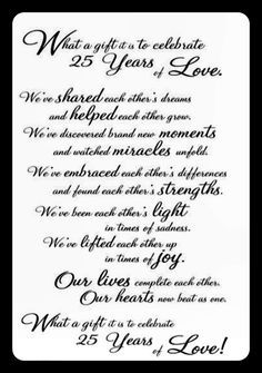 25 Years Of Marriage Anniversary Quotes25th 25th Quotes 30th Wedding