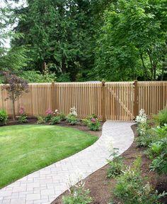 Front of house idea. Lawn, path, landscape, driveway.