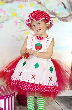 Items similar to Strawberry Shortcake tutu dress- Strawberry Shortcake- Strawberry Shortcake Costume on Etsy Strawberry Shortcake Halloween Costume, Strawberry Shortcake Party, Strawberry Dress, Strawberry Costume, Cute Girl Costumes, Dance Costumes, Halloween Cosplay, Halloween Costumes, Costumes Couture