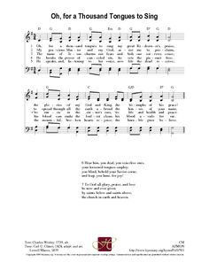 O for a Thousand Tongues - Hymnary.org