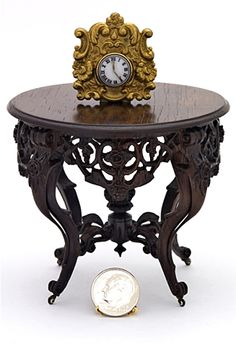 Rosewood Rococo Revival Center Table, c. 1840-1870 from the Kruger Collection