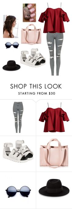 """Summer"" by shania-collier on Polyvore featuring Topshop, Anna October, Corto Moltedo, Maison Michel and REGALROSE"