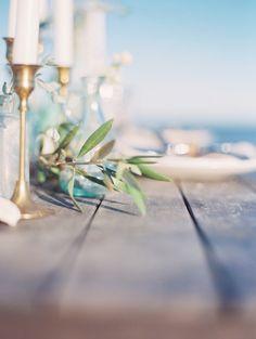 Beach wedding tablescape | Nikki Santerre Photography | see more on: http://burnettsboards.com/2014/05/beach-wedding-editorial-heartfelt-message/