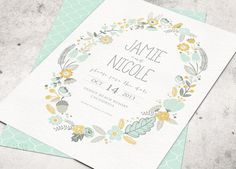 BOHEMIAN RUSTIC WEDDING Save the Date Card - Floral Wreath -  Printable Designs on Etsy, $20.00