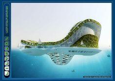 Lilypad architecture 2 by Vincent Callebaut