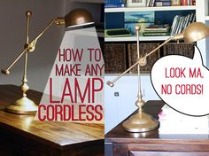 How to make cordless lamps | How to do it | Pinterest | Cordless lamps