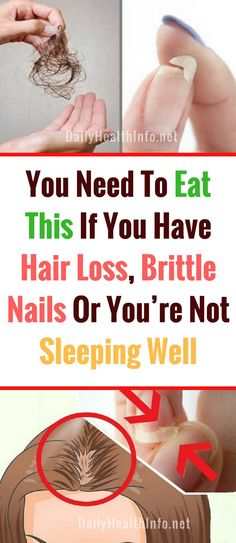 You Need To Eat This If You've Brittle Nails, hair loss Or You're Not Sleeping Well