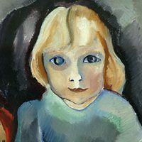 Klein meisje 'Annetje' (Little Girl 'Annetje'), 1917 by Charley Toorop on Curiator, the world's biggest collaborative art collection. Oil Canvas, Tachisme, Famous Words, Dutch Painters, Collaborative Art, Vintage Artwork, Photo Canvas, Female Art, Art For Kids