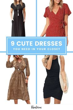 On the market for a new dress? These seven styles are constantly trending, and we're obsessed with them all. #dresses #outfits Elegant Midi Dresses, Cute Dresses, Summer Tunics, Denim Shirt Dress, Street Style Looks, Night Outfits, New Dress, Outfit Ideas, Fashion Trends