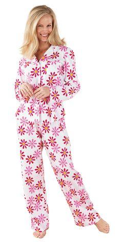 Fuchsia Daisy Boyfriend Pajamas from PajamaGram. $59.99 #Daisy #Pajamas