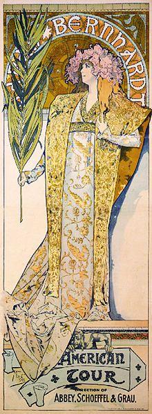 Art Nouveau - Sarah Bernhart poster by Alfons Mucha
