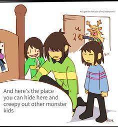 Kris teaching Frisk and Chara to prank people is my new favorite thing <<< lol poor Noelle Undertale Memes, Undertale Fanart, Undertale Comic, Kfc, Toby Fox, Gaming Memes, Frisk, Indie Games, Homestuck