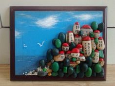 Stone Art Painting, Pebble Painting, Rock Painting, Diy Gifts Cheap, Pebble Art Family, Pebble Pictures, Rock And Pebbles, Sea Art, Rock Crafts