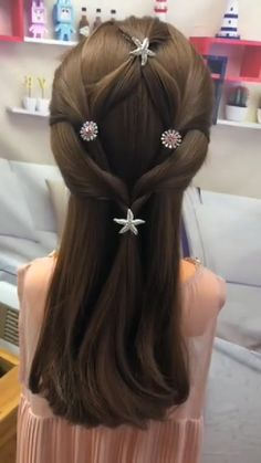 # short Braids with curls Hairstyle Tutorial 358 Cute Hairstyles, Braided Hairstyles, Halloween Hairstyles, Hairstyles Videos, Curly Hair Styles, Natural Hair Styles, Hair Upstyles, Hair Creations, Hair Videos