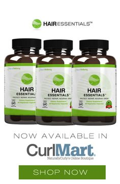 New in #CurlMart | Hair Essentials   This Award-winning dietary supplement is 100 % drug-free, gluten-free, vegetarian, and non-GMO. It stimulates healthier, fuller, faster-growing hair; revitalizes hair follicles; and combats excessive shedding and hair loss.  Remember to drink lots of water when taking hair vitamins!   Click to buy: http://www.curlmart.com/product/hair-essentials-for-hair-growth/   #naturallycurly #curlyhair