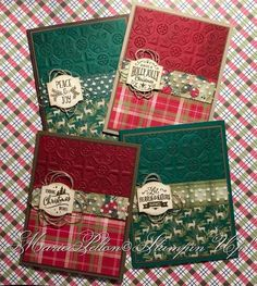 The post 4 Embossing Folder Christmas Card ideas. 2019 appeared first on Scrapbook Diy. Christmas Cards 2018, Homemade Christmas Cards, Christmas Greetings, Handmade Christmas, Homemade Cards, Holiday Cards, Christmas Crafts, Christmas Ideas, Stampinup Christmas Cards