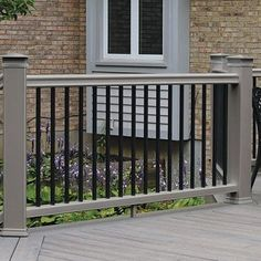 Order up to five free samples of TimberTech decking, railing, porch or pavers to get an accurate sense of our advanced composite materials, textures & colors. Black Railing, Black Deck, Wood Porch Railings, Timbertech Decking, Composite Deck Railing, Mahogany Decking, Trek Deck, Cedar Deck, Building A Deck