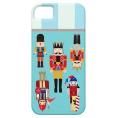 Nutcrackers Soldiers with Custom Name - Aqua iPhone 5 Covers
