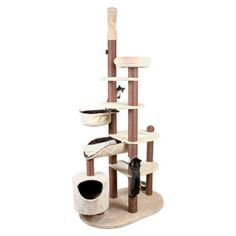 One hell of a cat house --TRIXIE's Nataniel Adjustable Cat Tree - PetSmart