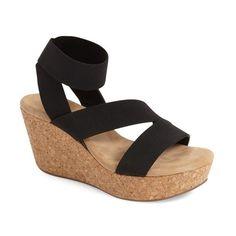 8b845507f997 Women s Splendid  Gavin  Elastic Strap Wedge Sandal ( 98) ❤ liked on  Polyvore
