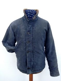 1# ISSUED N-1 WWII BLUE DECKT JACKET (one year production only) RARE (from SANFORIZED)