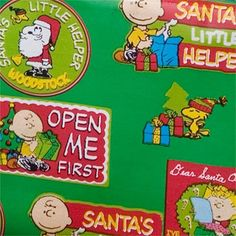 Snoopy Christmas Wrap Open Me First Gift Wrap wrapping paper roll