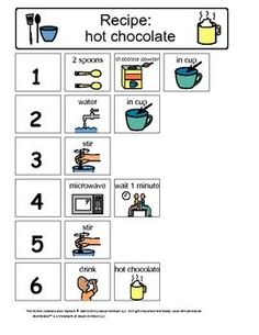 Visual Recipes for Kids with Autism
