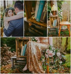 AMAZING gold bridesmaid dress- looks awesome with the leafy bouquet Styled by Meant To Be Magnolia Kitchen, Gold Bridesmaid Dresses, Awesome, Amazing, Woodland, Whimsical, Floral Design, Bouquet, Photoshoot