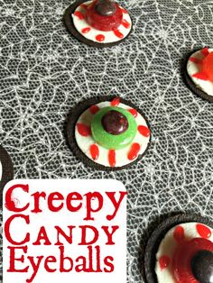 Creepy gore without going overboard, these creepy candy eyeballs are perfect for your next Halloween party!
