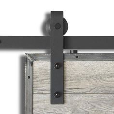 Colonial Elegance® Matte Black Steel Rustic Sliding Barn Door Kits at Menards®