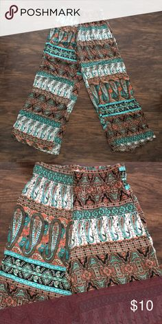 Boho Pants Boho Pants - Multi Colored - Worn Once - Extremely Comfortable I Wear A Extra Small/Small & These Fit Me Fine Ambiance Pants