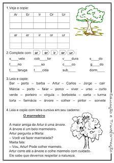 Blog Educação e Transformação: 👍Reforço de português para o 1° e 2° ano Portuguese Language, Toddler Activities, Journal, Education, Words, Blog, Reading Activities, Kids Learning Activities, Preschool Literacy Activities