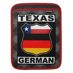 #Texas German American iPad Case, available to purchase at #Zazzle.com, items can be customized with your own text #germanamerican #germany #deutschland