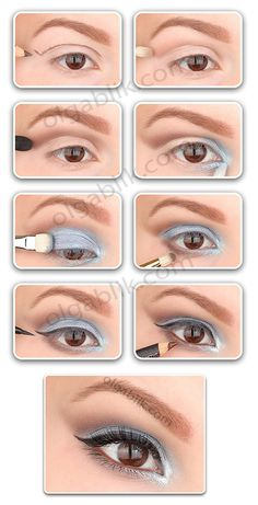 anleitung A guide on how to do evening eye make up. A guide on how to do evening eye make up. Makeup 101, Love Makeup, Makeup Looks, Makeup Ideas, All Things Beauty, Beauty Make Up, Hair Beauty, Beauty Secrets, Beauty Hacks
