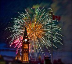 Canada Day Fireworks, Happy Birthday Canada, Big Ben, Travel, Holidays, Fun, Viajes, Holidays Events, Trips