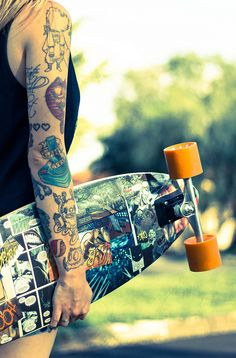 Tattoos & Skate | La Beℓℓe ℳystère