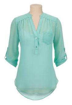 Resultado de imagen para blusas manga tres cuartos