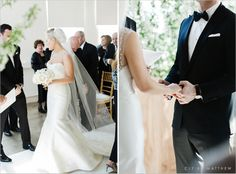 """Bride wears """"Lenox"""" by Amsale. Photo by Cly by Matthew"""