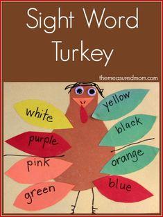 Sight word turkey