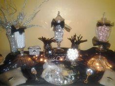 Black & White Evening Wedding. (Posh Candy Buffet...visit us on Facebook)