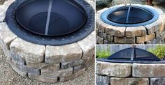 Turn your backyard into a cool camping place with your very own do-it-yourself fire pit. Outdoor Fireplace Brick, Camping Places, Fire Pit Backyard, Landscaping, Garden, Outdoor Decor, Projects, Diy, Ideas