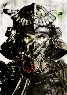 japanese samurai, Osman Idress on ArtStation at https://www.artstation.com/artwork/japanese-samurai