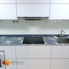 Metallic Epoxy Singapore White Highlights on Silver Base Kitchen Countertop Epoxy Countertop, Kitchen Countertops, White Highlights, Lava Flow, Singapore, Metallic, Home Appliances, Topcoat, Base
