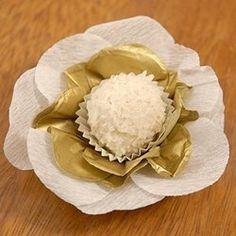 Forminhas Decorativas - Elegance Ouro e Branco - 24 unidades