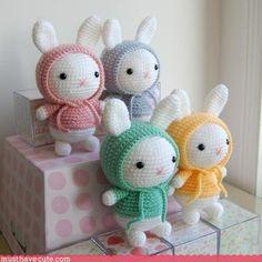 Mesmerizing Crochet an Amigurumi Rabbit Ideas. Lovely Crochet an Amigurumi Rabbit Ideas. Bunny Crochet, Crochet Mignon, Cute Crochet, Crochet Crafts, Easy Crochet, Crochet Projects, Baby Knitting Patterns, Crochet Patterns Amigurumi, Amigurumi Doll