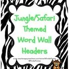 This is a set of Jungle/ Safari Theme Word Wall Headers with various animal print backgrounds!  Perfect to spice up any word wall!    These match m...